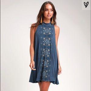 NWT Blue Leslie O'Neill Dress